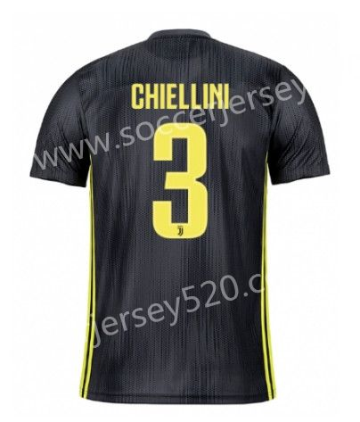 2018-19 Juventus 2nd Away Dark Gray  3 (CHIELLINI) Thailand Soccer Jersey 77a7200b8b0b5
