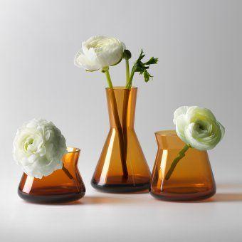 Vase Trio 3er Set bernstein