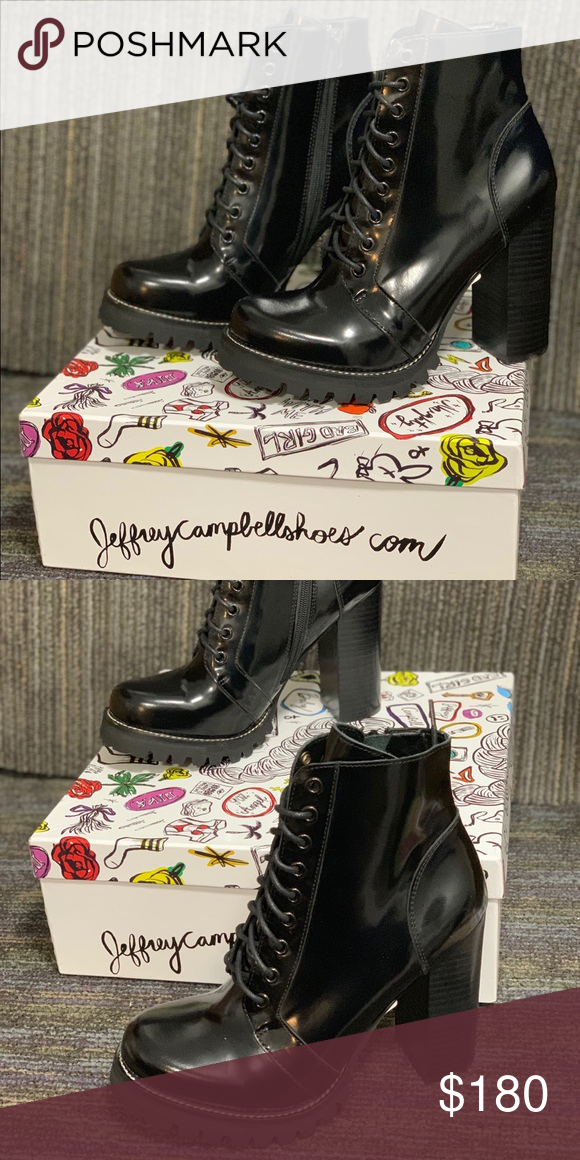 9cba5feab668 Jeffrey Campbell Legion Boots Brand new in box! Never worn Jeffrey Campbell  Shoes Heeled Boots