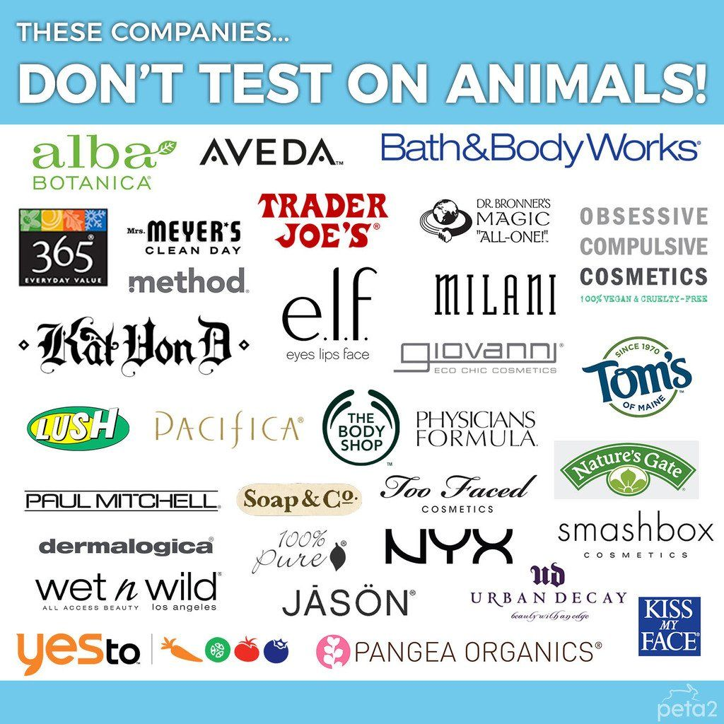 PETA Shares on Cruelty free makeup, Vegan beauty