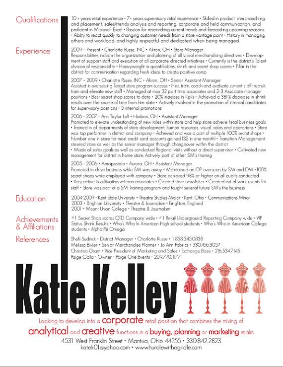 cute resume Resume ideas Pinterest Resume, Resume design and - pretty resume template