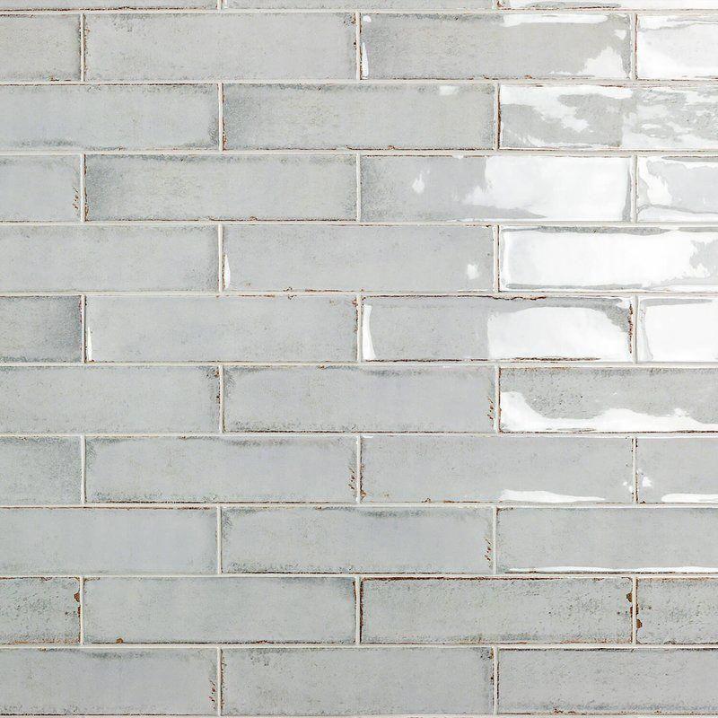 Moze 3 X 12 Ceramic Subway Tile In Gray Kitchenbacksplash