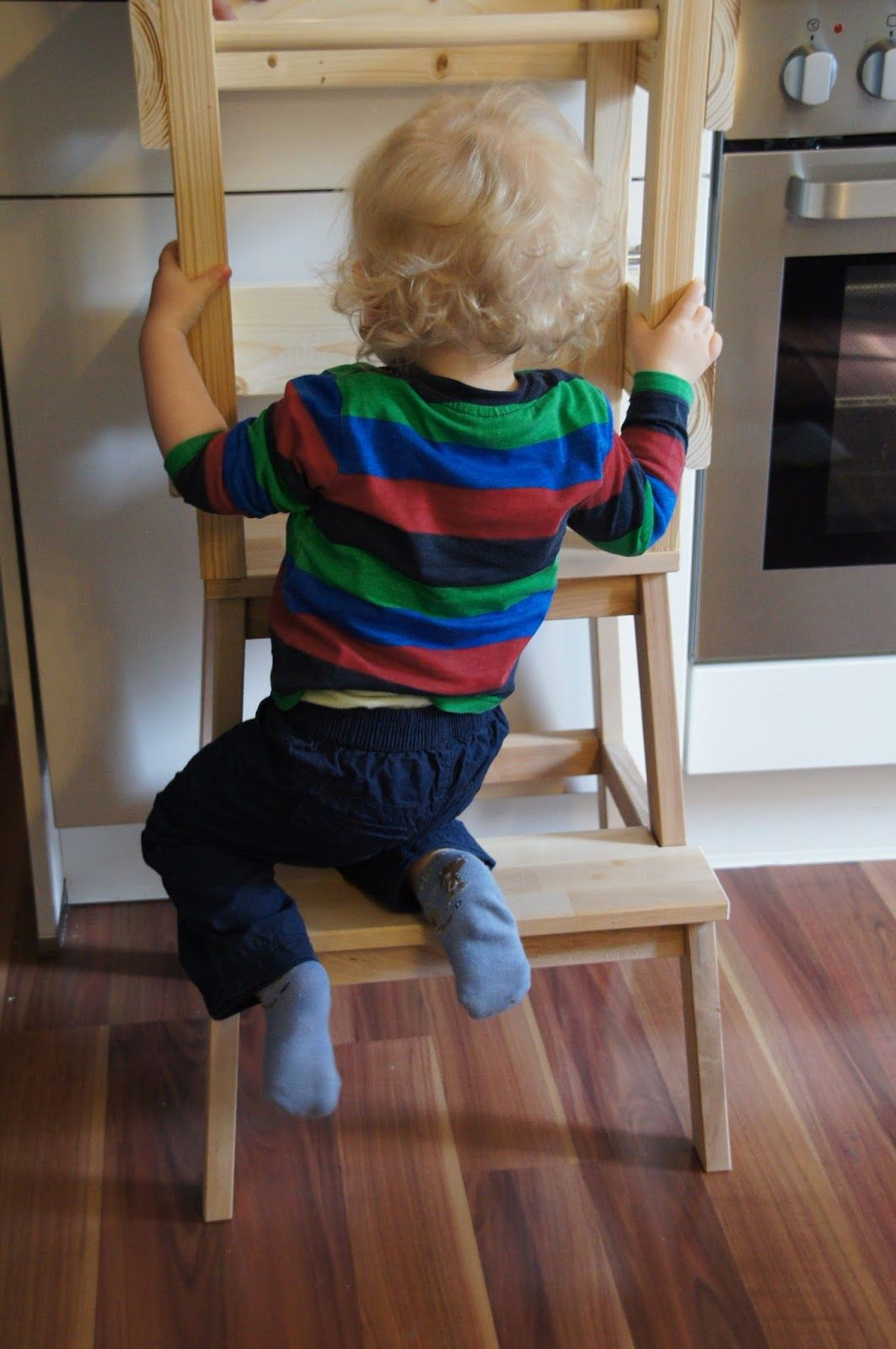 gl cksfl gel bauanleitung f r einen learning tower lernturm aus ikea hocker bekv m baby. Black Bedroom Furniture Sets. Home Design Ideas