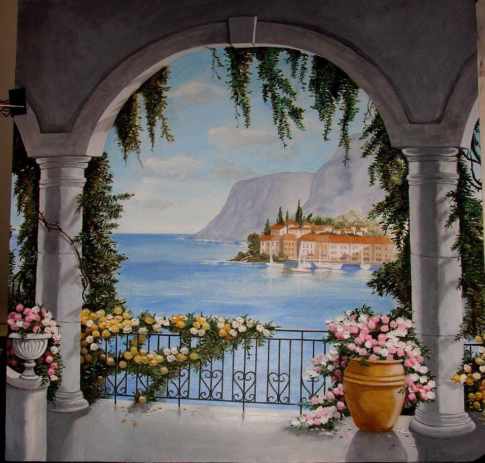 Trompe l oeil murals trompe luoeil ideas pinterest wall murals