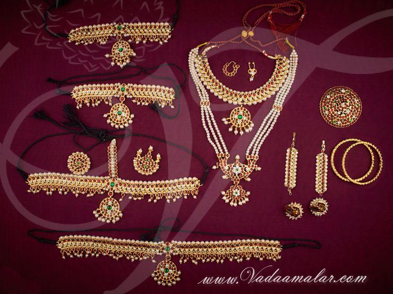 bcdc1c7360 Kids size Bharatanatyam and Kuchipudi dance jewellery set ...