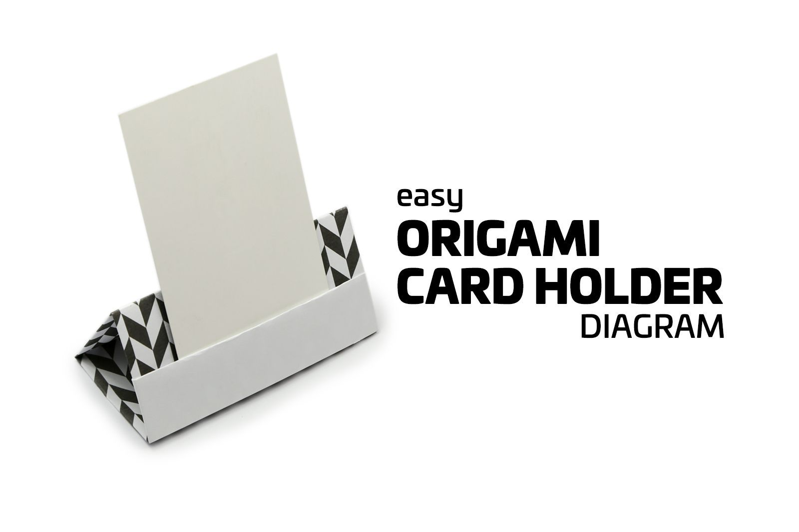 Easy Origami Card Stand Tutorial! | Origami cards, Menu holders and ...