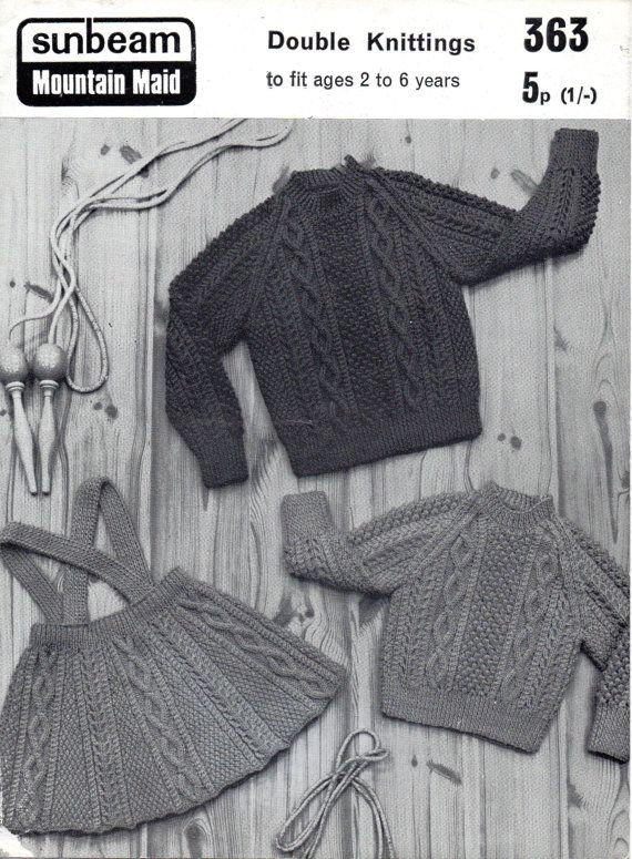 PDF File Vintage Child\'s Aran Suit Sunbeam by NostalgiaPatterns ...