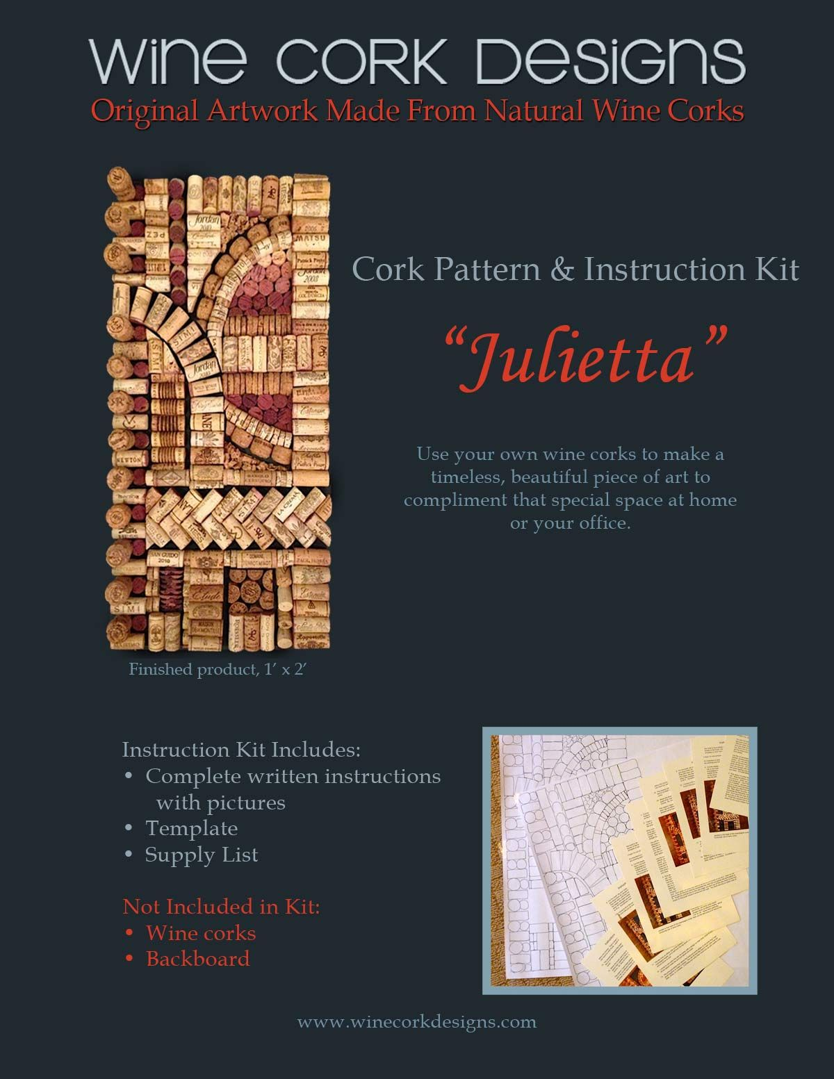 Do it yourself wine cork art purchase this wine cork pattern use do it yourself wine cork art purchase this wine cork pattern use solutioingenieria Gallery