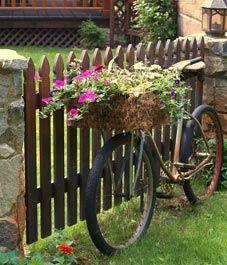 Old Bike Planter.