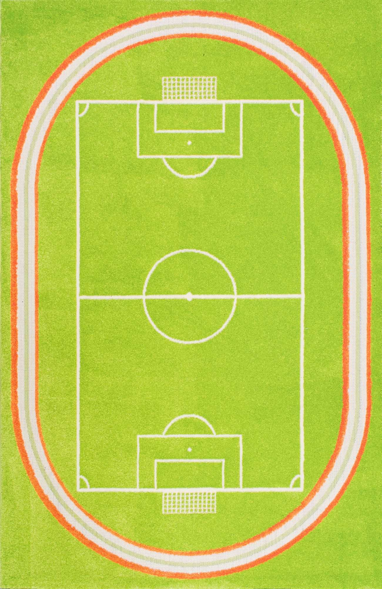 Kids Zone Playtime Kw03 Miniature Soccer Field Rug
