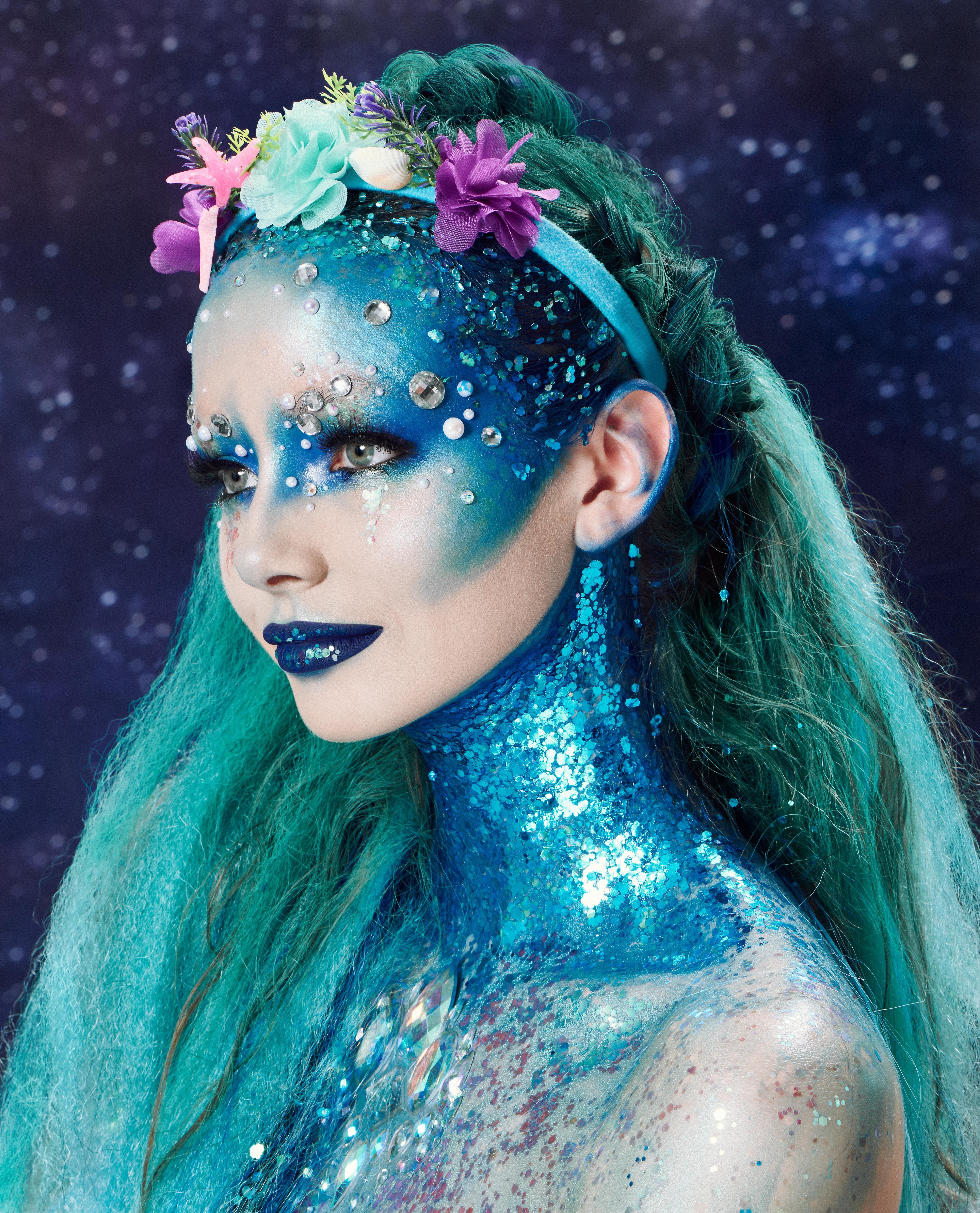 Halloween hair ideas 2018 Enchanted Mermaid. Looking for