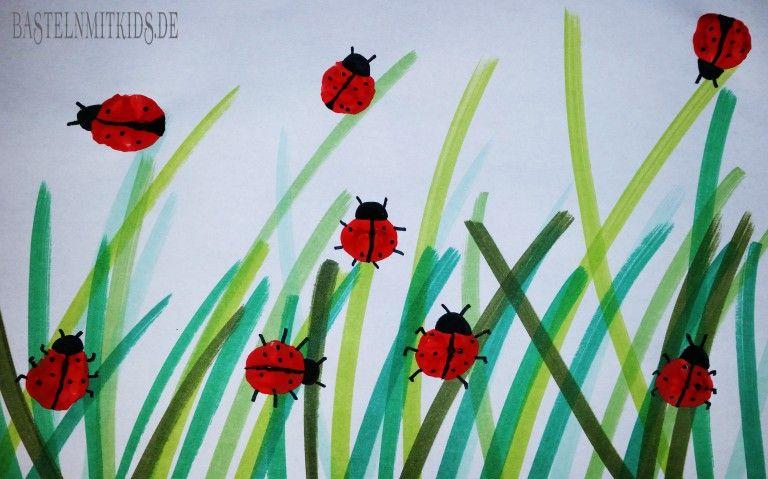 Bienenstock und Bienen malen - Basteln mit Kindern