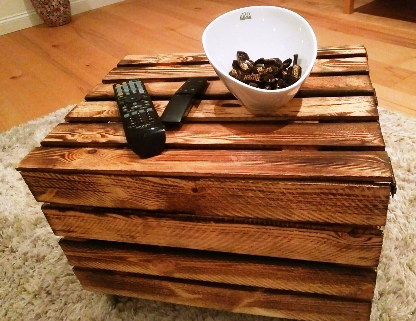 Truhencouchtisch,Beistelltisch mit Stauraum,Holztruhe