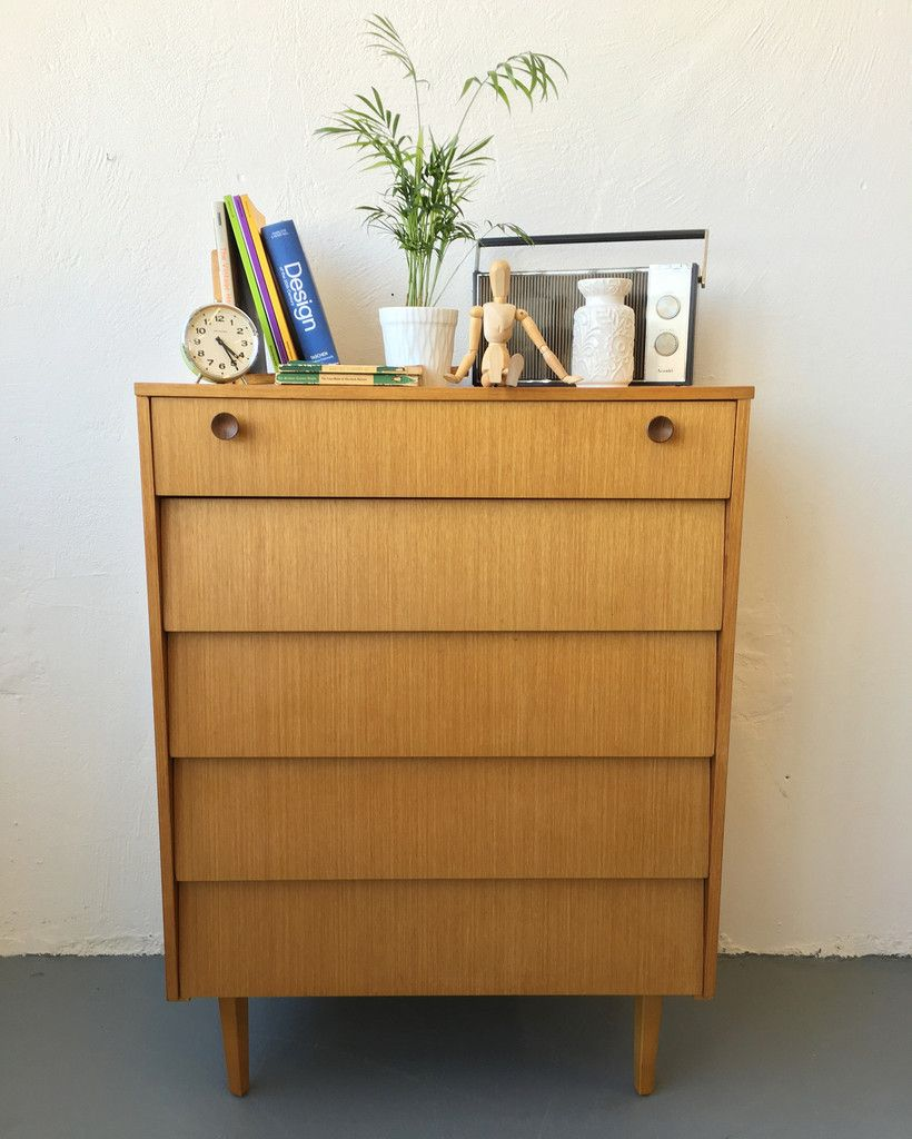 Tallboy Bedroom Furniture Mid Century Tallboy Chest Of Drawers By Avalon Bedroom