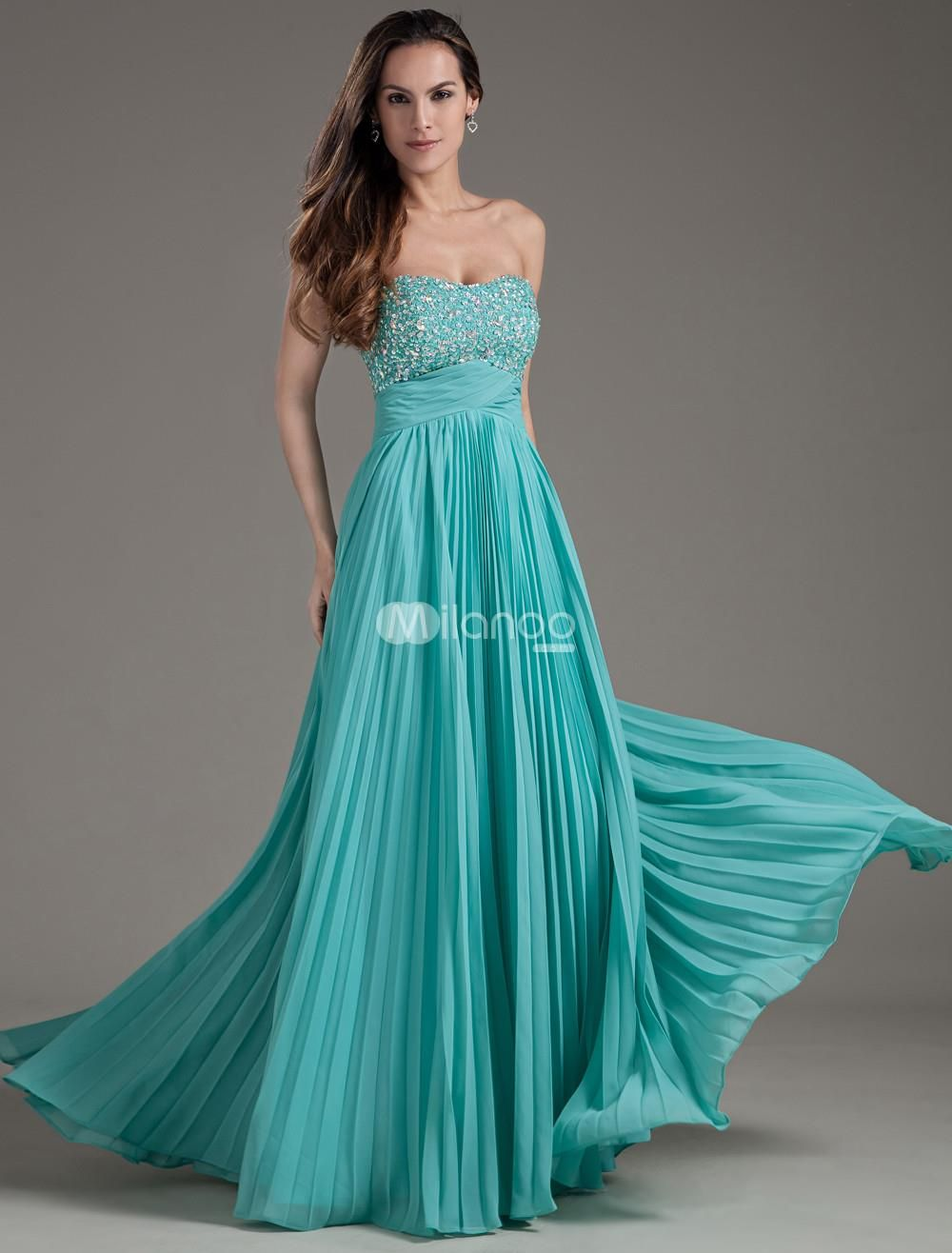 Empire waist hunter green chiffon sequin fashion prom dress empire