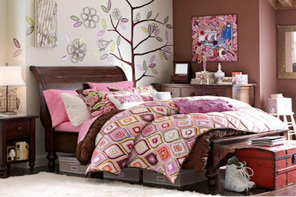 cool bedroom ideas for teenage girls - Design decor brown ...