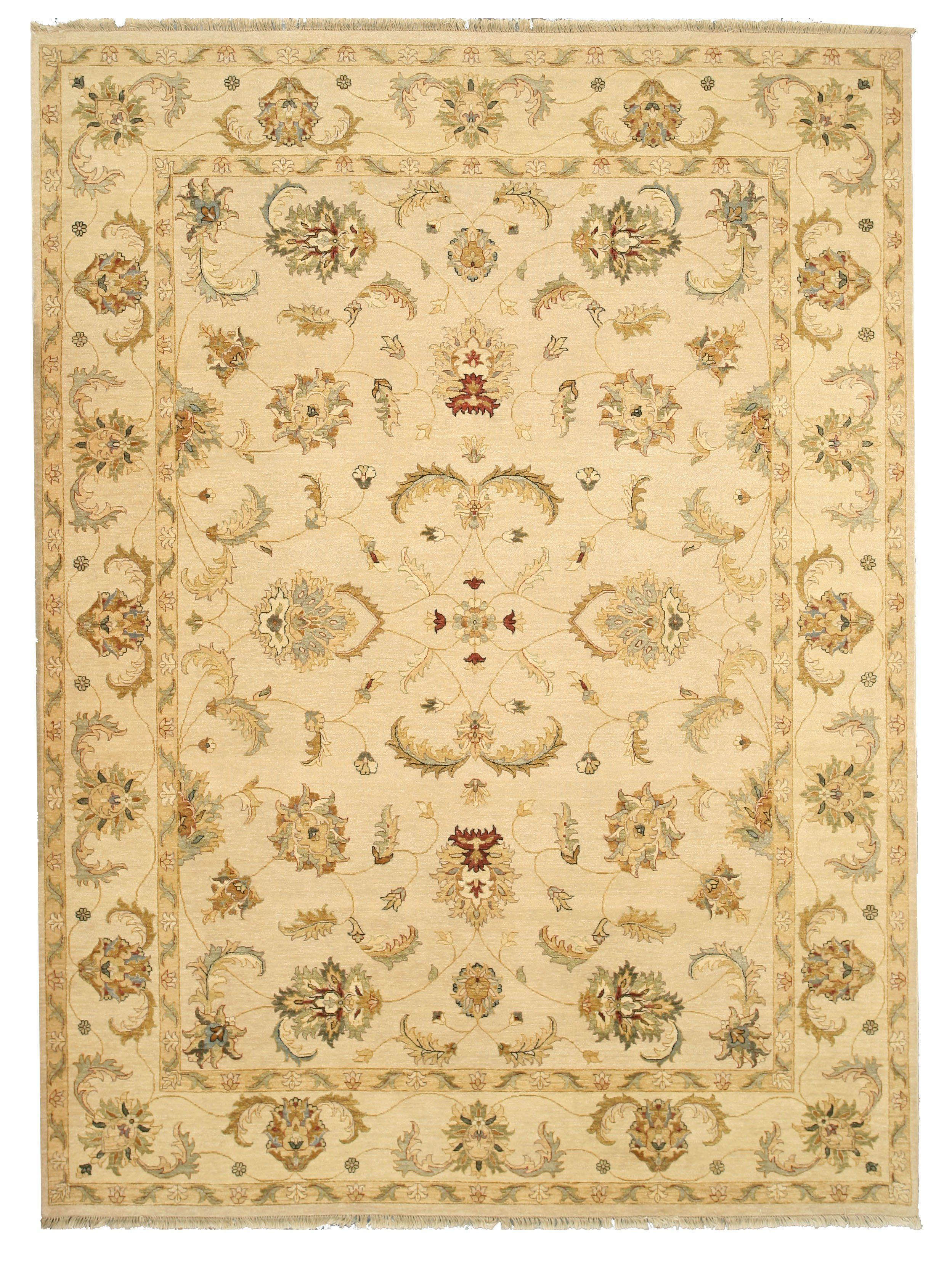 Eorc Hand Knotted Wool Ivory Traditional Oriental Agra Rug Rugstexture Agra Rug Rug Texture Rugs