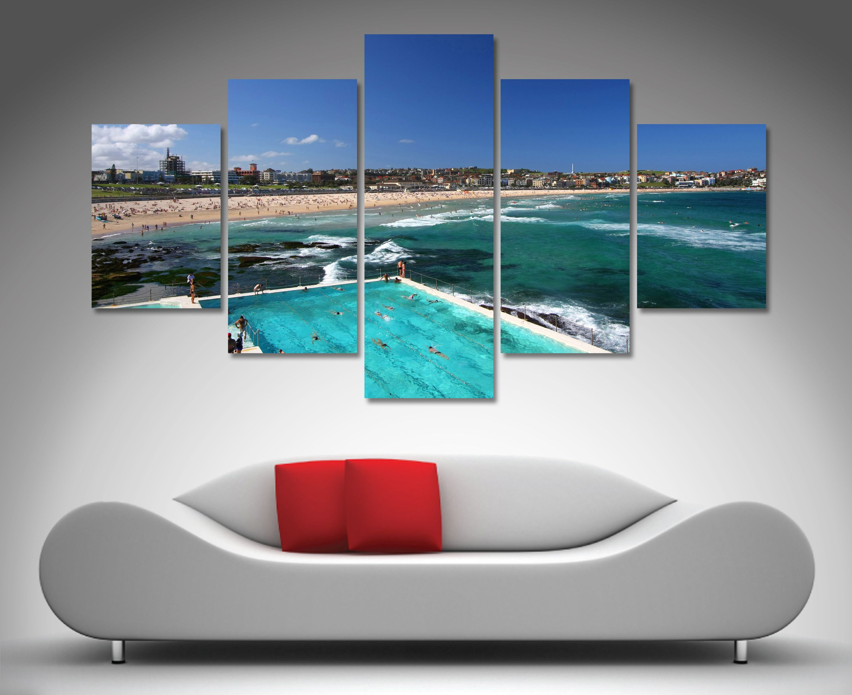 Bondi Icebergs 5 Panel Canvas Prints  Http://www.bluehorizonprints.com.au/canvas Art/5 Split Panel Diamond/