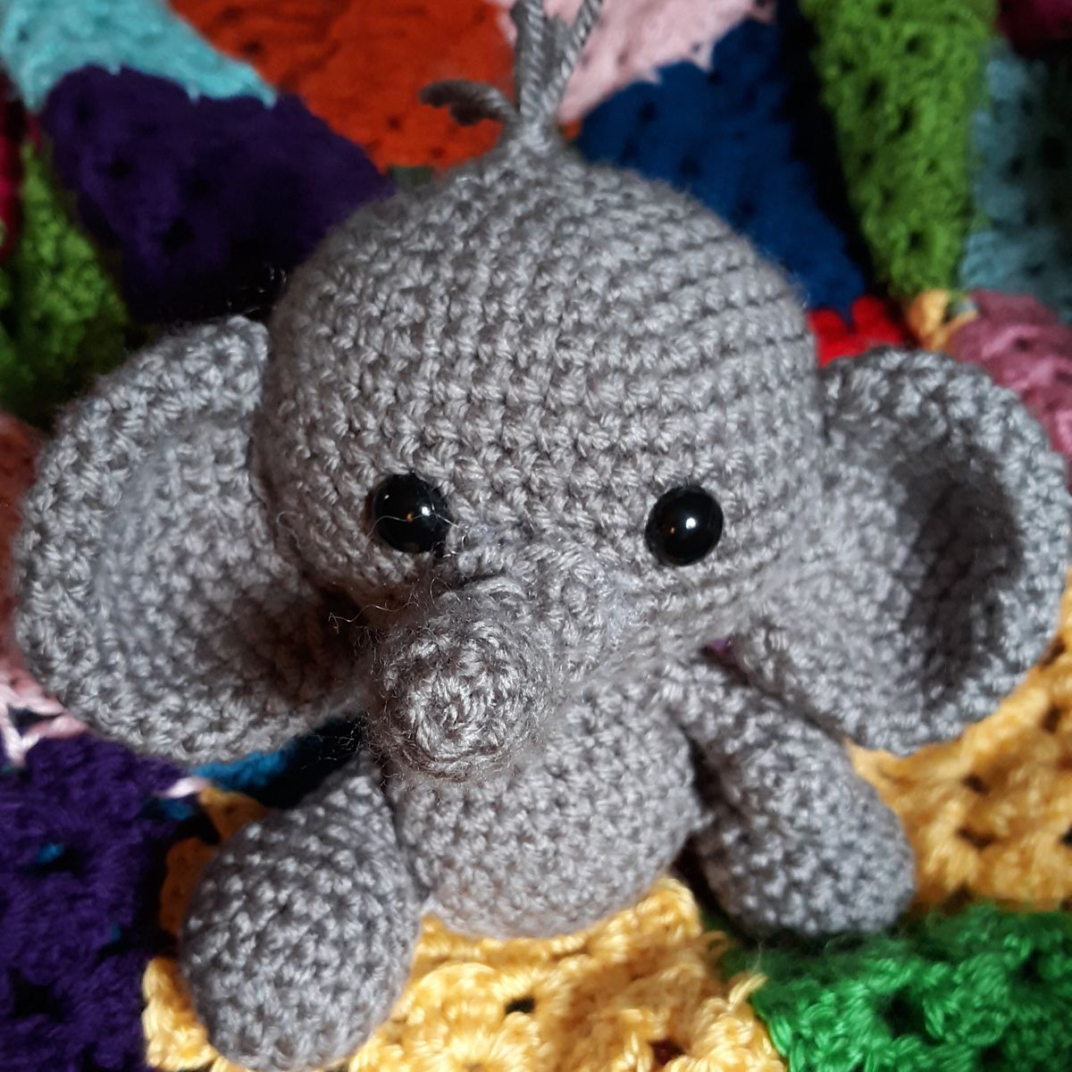 PATTERN: Ellis the Elephant - crochet elephant - amigurumi elephant pattern - English, German, Portuguese - PDF crochet pattern #crochetelephantpattern