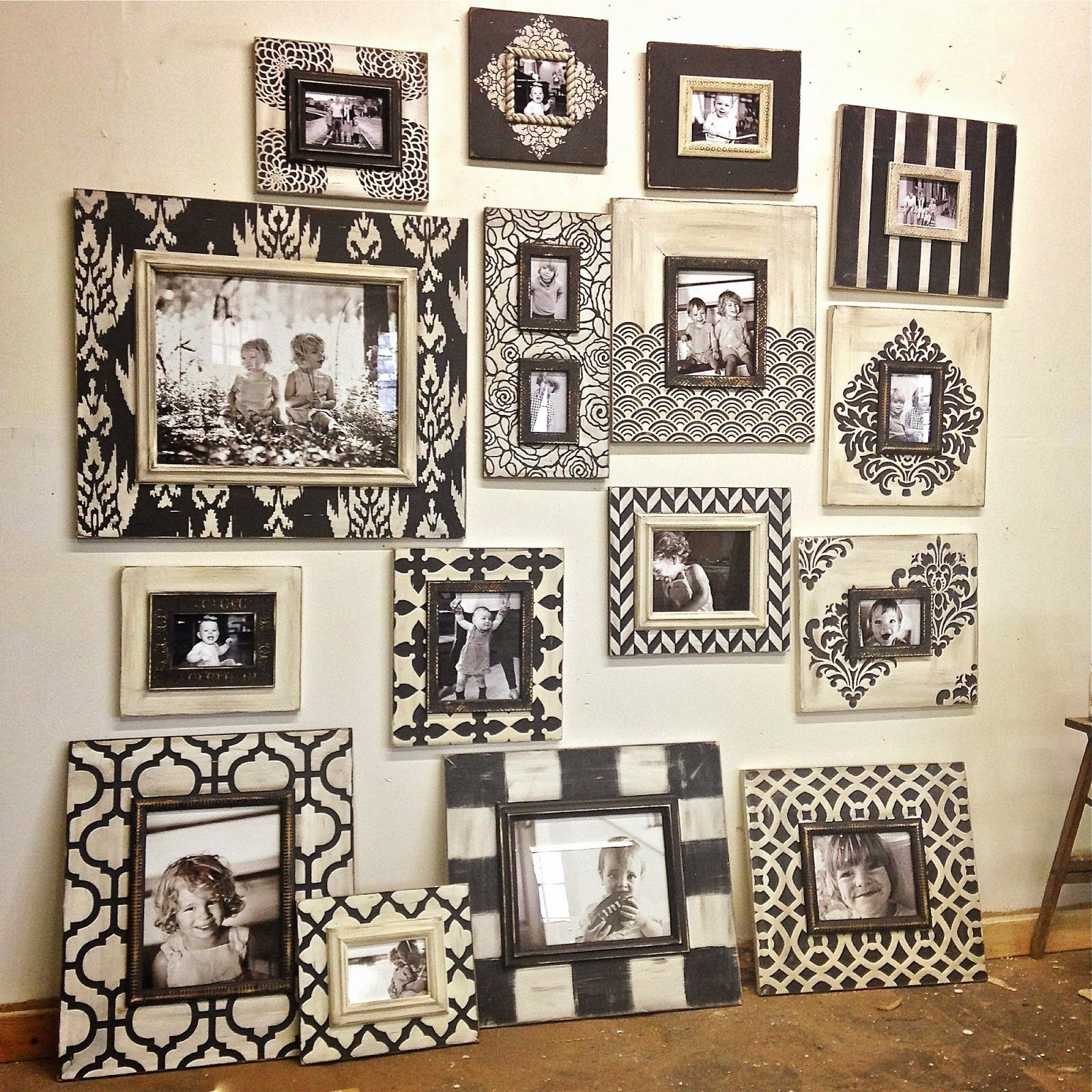 Delta Girl Distressed Frames: Black and White Frames for a Gallery ...