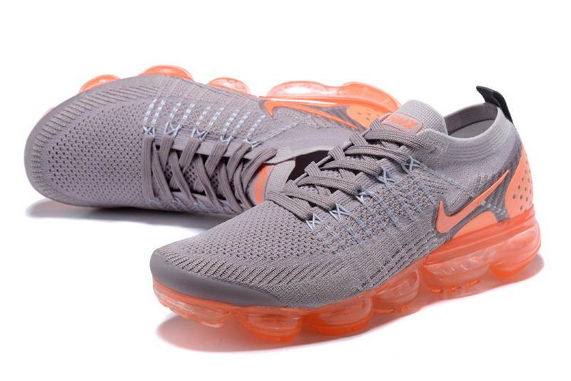 8ff41d98e2f637 Men Nike Air Vapormax Flyknit 2 Grey Orange