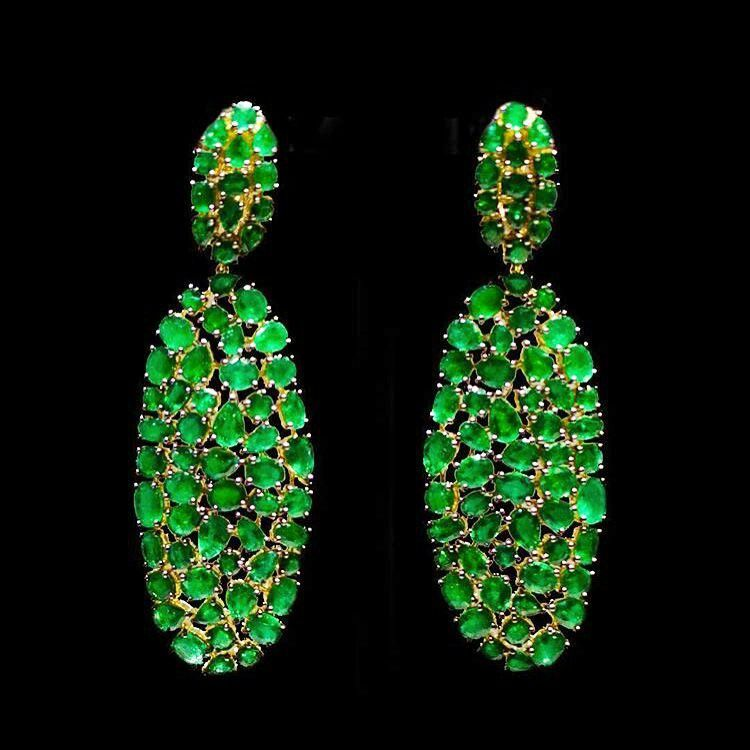 @ethomaria emerald earrings from their Vibrant Collection