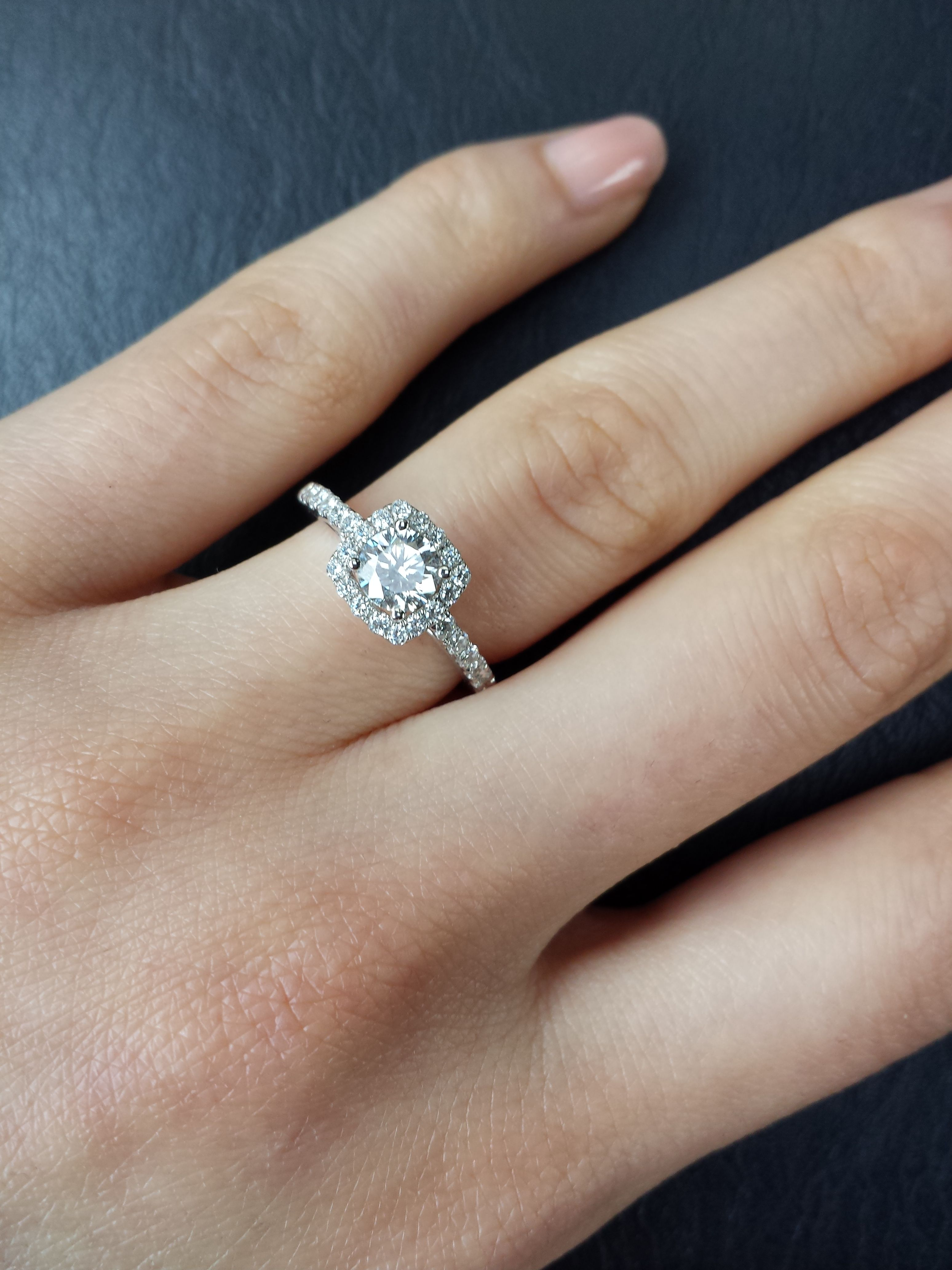 Cushion Cut Halo Diamond Rings  Google Search