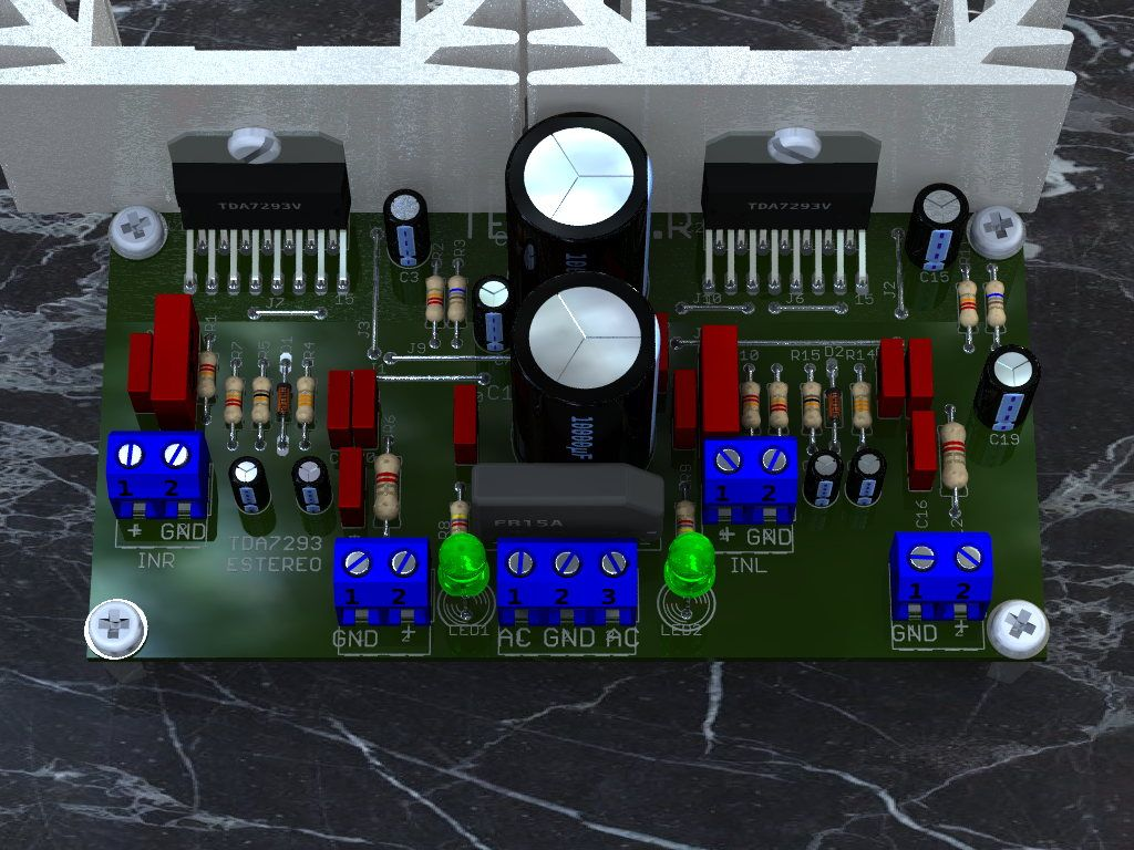 Circuito De Amplificador Udio Estreo Com Boa Potncia 25 Watt Power Amplifier Using Tda2009 Utilizando Integrado Tda7293 Para At