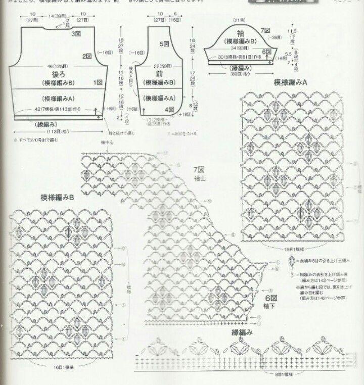 Picasa Web Albums. PICTURE ONLY. Crochet woman\'s bolero. Diagram #1 ...
