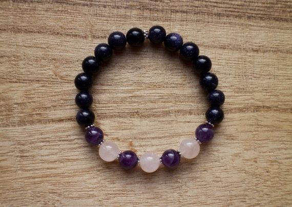 Clear Communication Healing Crystals for Creativity Lapis Lazuli and Aquamarine Mala Bracelet Confidence, Stress Relief