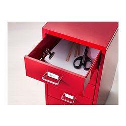 Helmer Cassettiera Con Rotelle Ikea.Helmer Cassettiera Con Rotelle Rosso 28x69 Cm Ikea Idee Ikea