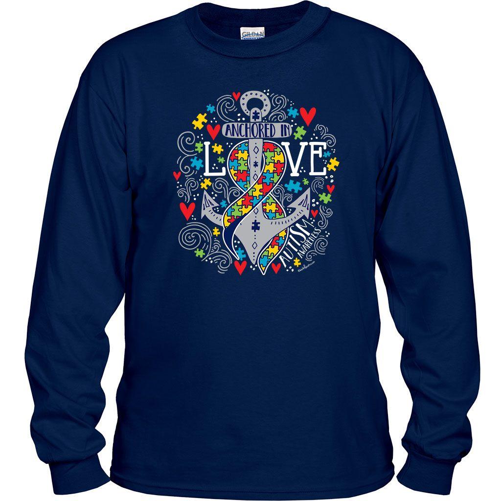 Blue Autism Flag Women/'s T-Shirt Autism Awareness Month Shirts