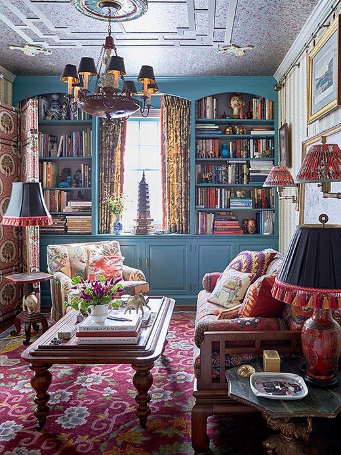 Cozy And Colorful Maximalist Interior Living Room