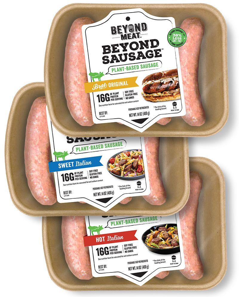 Brat Original Beyond Sausage Beyond Meat The Future Of Protein Vegan Grocery Vegan Grocery List Vegan Sausage