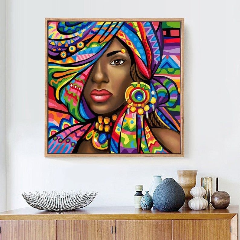 Fast Delivery 5d Diy Diamond Painting Woman Fantasy Home Etsy In 2020 Painting Illustration Wall Art Mandala Design Art