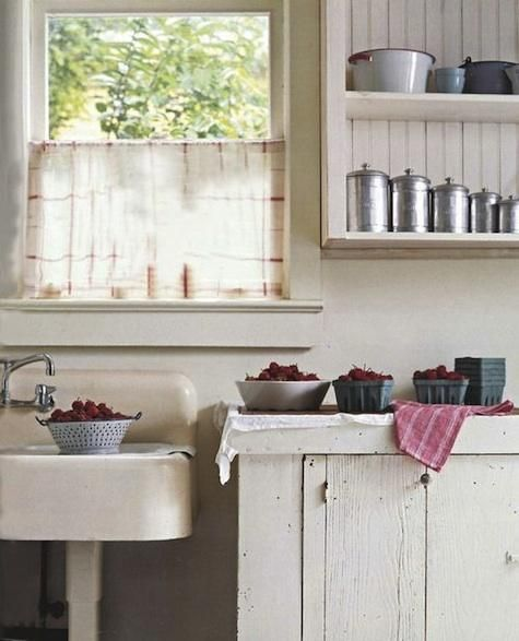 Tea Towel Kitchen Curtains: Accessories: Dish Towel As Curtain