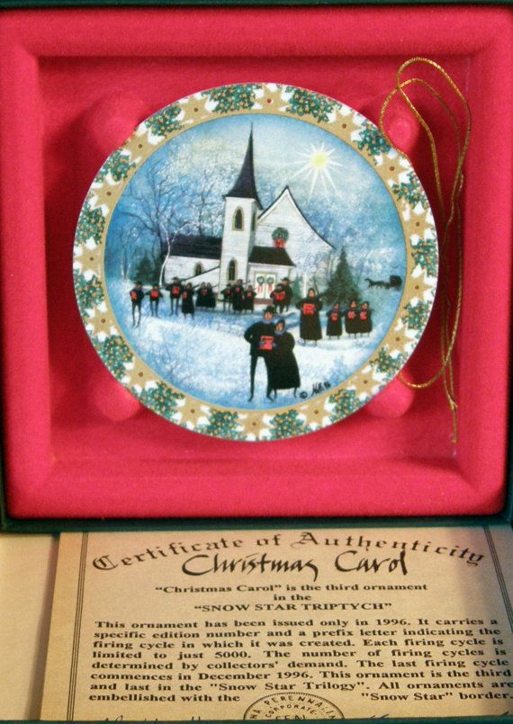 One day I'll have a collection! P Buckley Moss Anna Perenna Christmas  Ornaments by ntvimage, $39.99 - One Day I'll Have A Collection! P Buckley Moss Anna Perenna