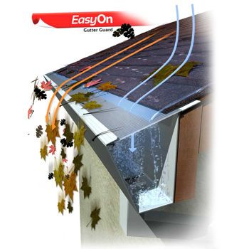 Easyon Gutterguard 5 Version 100 In 2020 Gutters Gutter Guard Metal Roof Construction