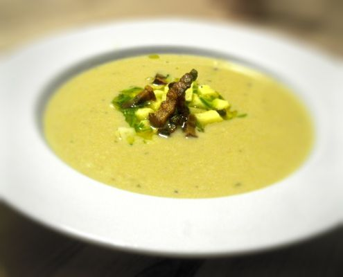 Jerusalem Artichoke Soup With Bacon And Chives Recipe Pinterest