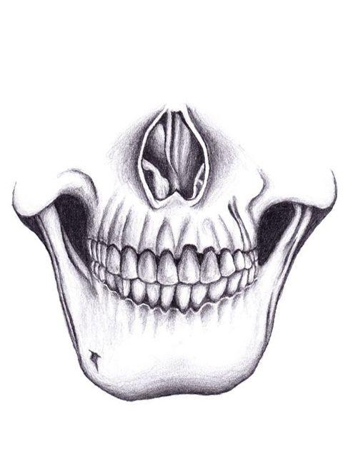 Skull Jaw Tattoo: Perfect Halloween Look