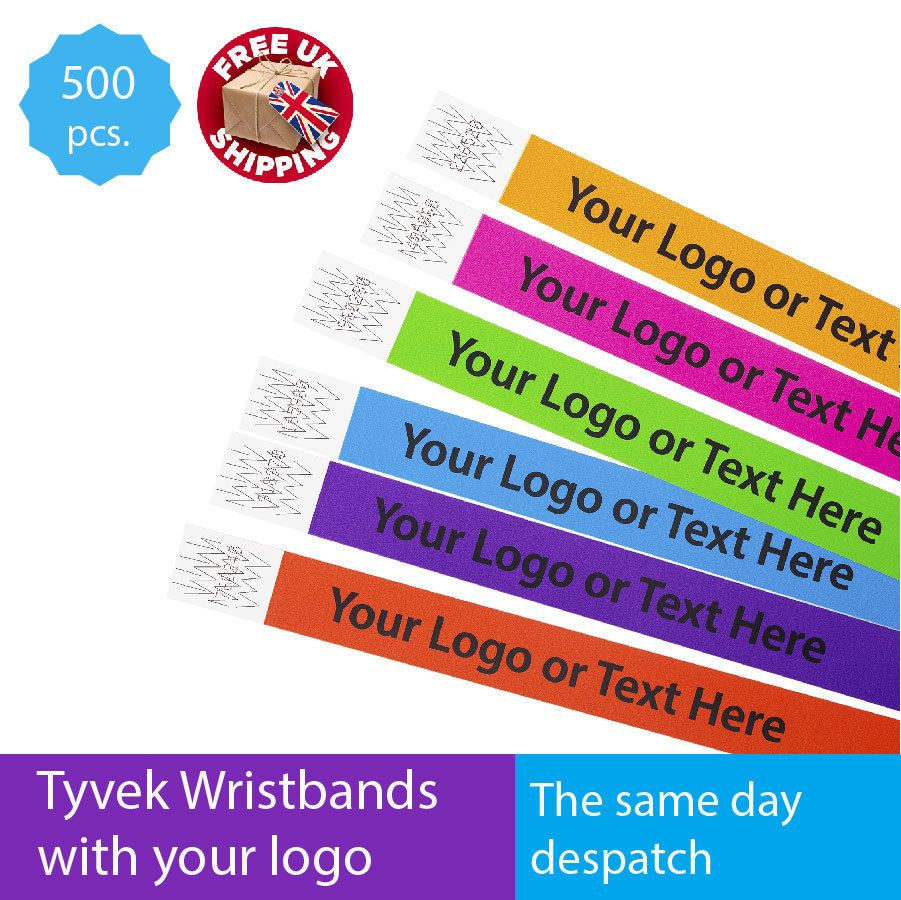 photograph about Printable Wristbands for Events identify Information and facts over Great deal of 500 Custom made Published Tyvek Paper