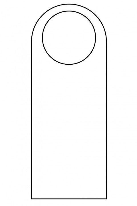 Blank Printable Doorknob Hanger Template Door Hanger Template