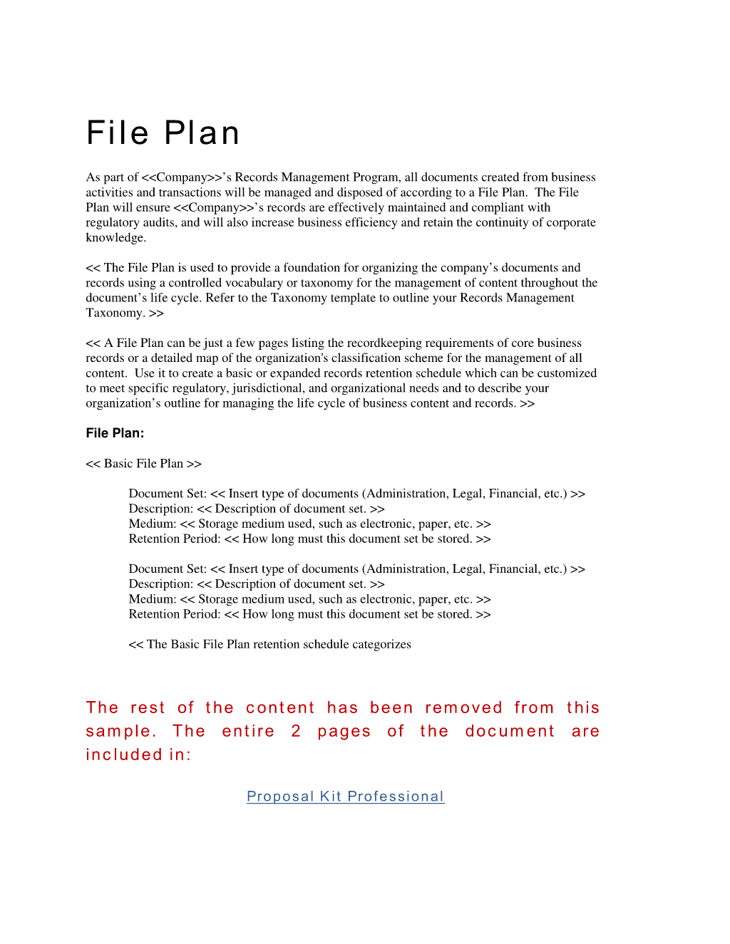 How To Write Your Own Records Management File Plan Template