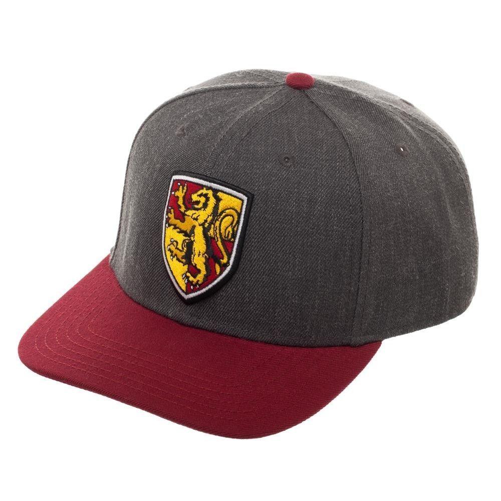 b4809b3cff8cc Harry Potter HOUSE GRYFFINDOR Adjustable Snapback Hat Cap Adult Grey ...