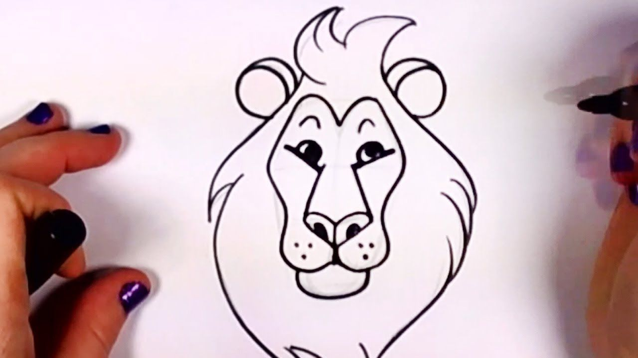 How To Draw A Cartoon Lion Step By Step Easy Cartoon Lion Head Cc