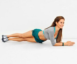 For abs/obliques! It's hard at first and it's no fun but man you can feel it!! 4 sets of 20