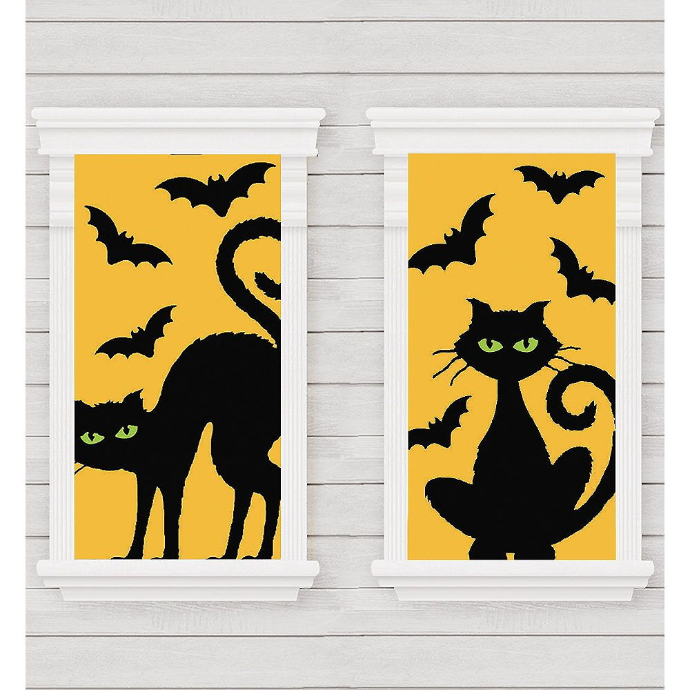 Cats & Bats Window Decorations 2ct Image #1 In 2019