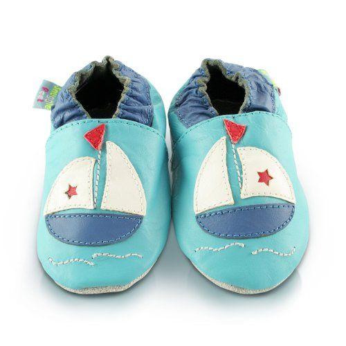 Suaves Zapatos De Cuero Del Bebé Azul Estrella 24-36 meses FwUkk