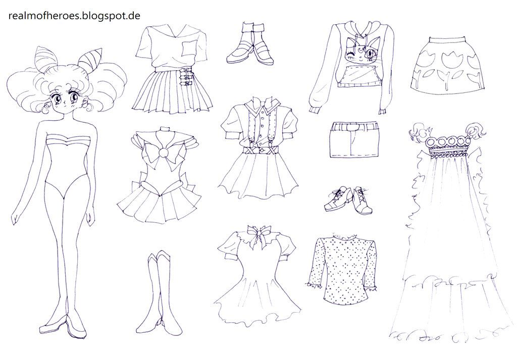Chibiusa Paperdoll By The Doll In Chains On Deviantart Paper Dolls Chibiusa Paper Dolls Printable