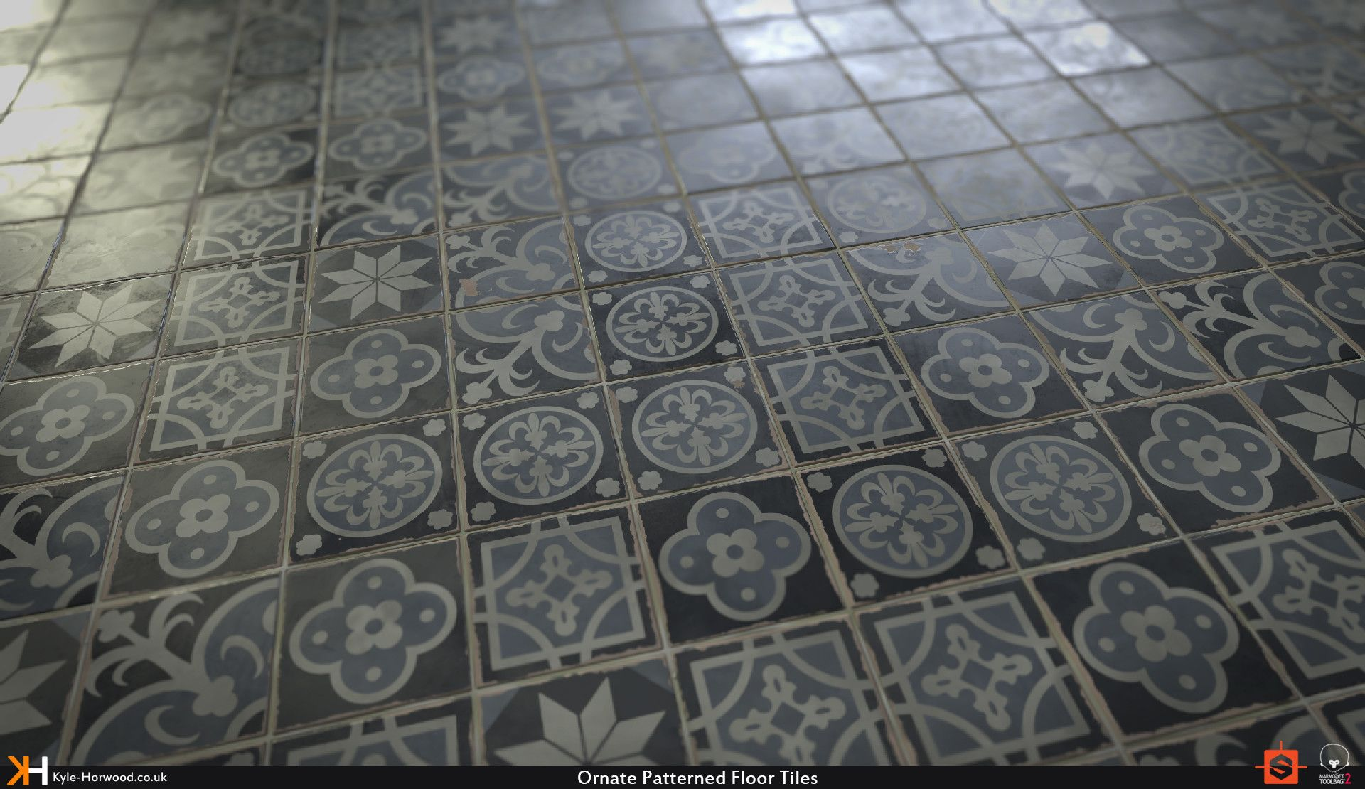 Artstation Tutorial Ornate Floor Tiles Substance Designer Material Kyle Horwood